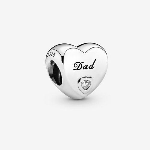 Dad Heart Charm