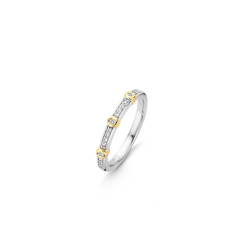 Ti Sento Silver with Yellow Gold-Plate Ring