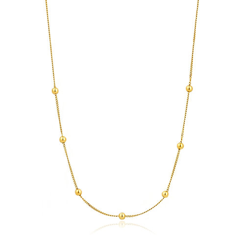Gold Modern Beaded Necklace