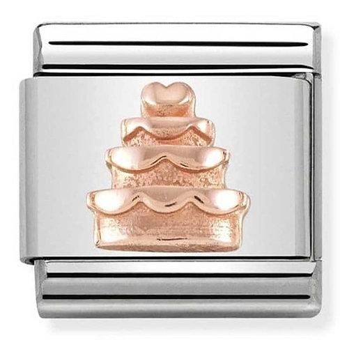 Nomination Rose Gold Wedding Cake