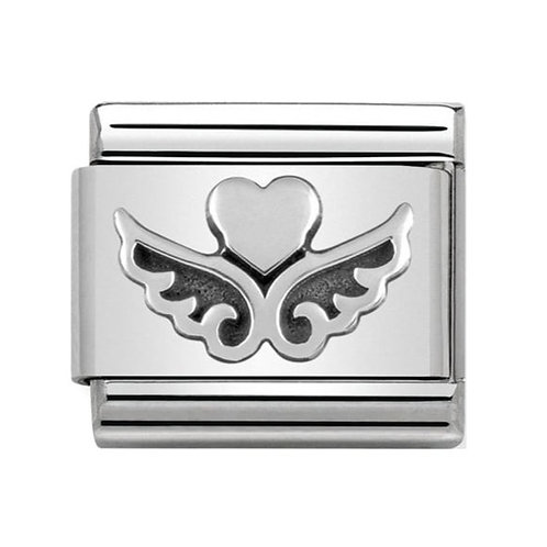 Nomination Silver Heart with Wings