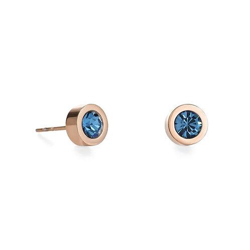 Coeur de Lion Rose & Green Turquoise Stud Earring
