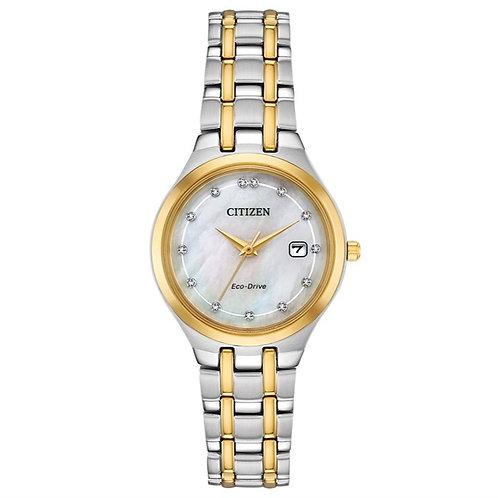 Women's Citizen Silhouette Diamond Eco-Drive Bracelet Watch