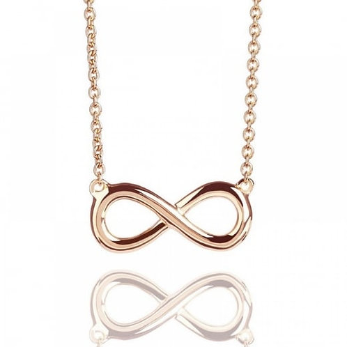 Rose Gold Prosperity Infinity Necklace