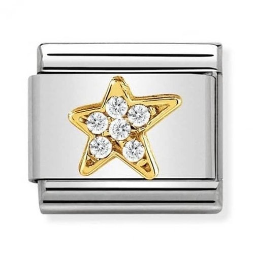 Nomination Gold CZ Star