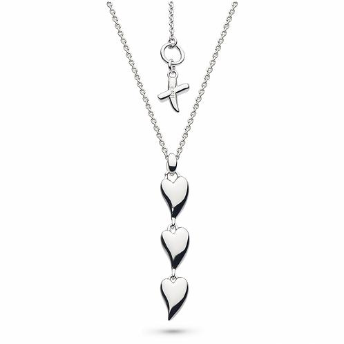 Desire Kiss Triple Hearts Necklace