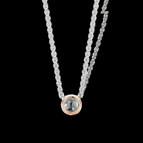 Ti Sento Grey Blue Stone Necklace