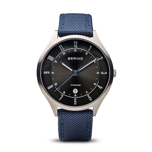 Bering Classic Titanium Brushed Silver Watch