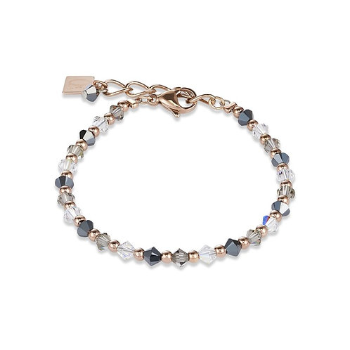 Coeur de Lion Swarovski Crystal and Rose Plated Stainless Steel Bracelet