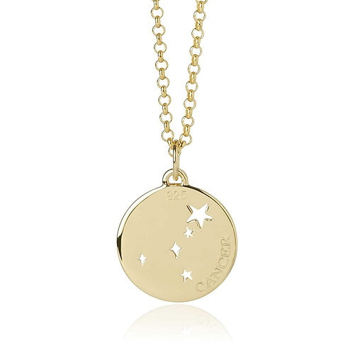 Gold Vermeil Cancer Necklace