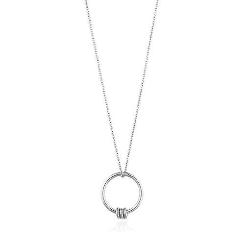 Silver Modern Circle Necklace