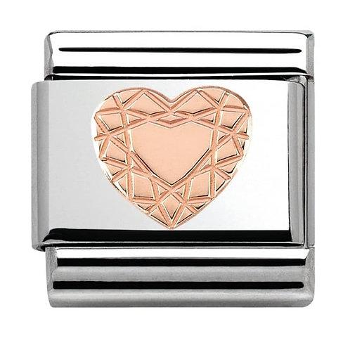 Nomination Rose Gold Vintage Heart