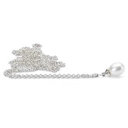 Polished Fantasy Necklace with White Pearl