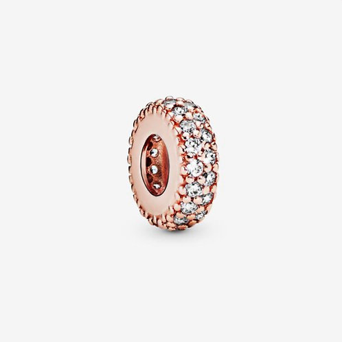 Rose Clear Sparkle Spacer Charm