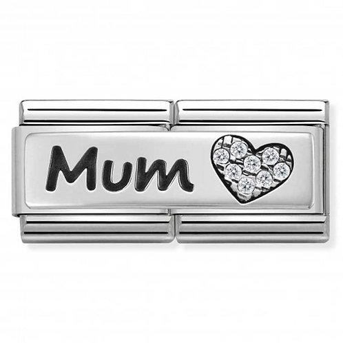 Nomination Silver Double Mum