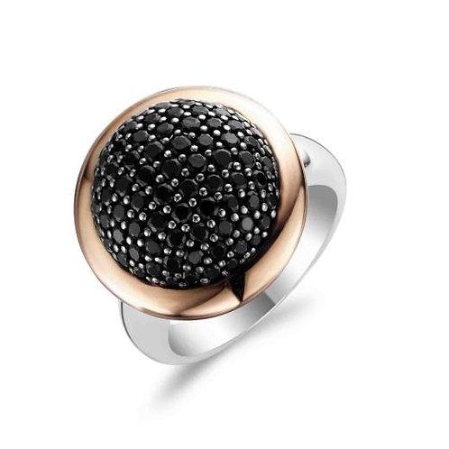 Ti Sento Black CZ Ring - Size O