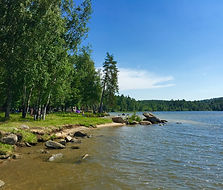 база отдыха Медвежий камень, озеро Таватуй