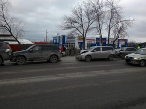 В Верхней Пышме пьяный лихач протаранил три машины