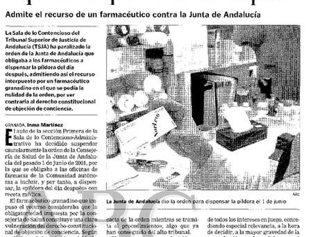 """El TSJA anula la orden que obligaba a dispensar la """"píldora del día después"""""""