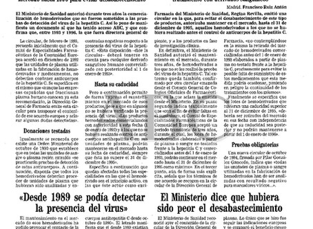 Sanidad autorizó la comercialización de hemoderivados que no fueron sometidos a la prueba de la hepa