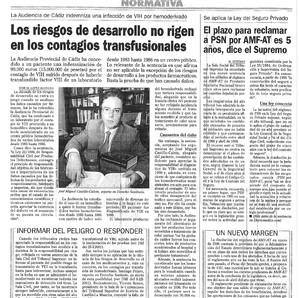 La Audiencia Provincial de Cádiz indemniza a un paciente al que contagiaron el SIDA