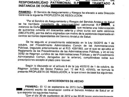 El SAS indemniza una grave negligencia médica al no tratar adecuadamente un Ictus