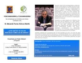 EDUARDO TORRES-DULCE EN FORO MIRASIERRA