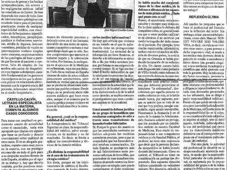 La actualidad de los errores médicos: Castillo-Calvín, letrado especialista en la materia, comenta a