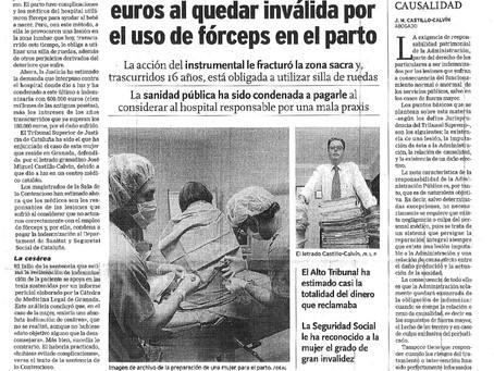 Indemnizada con 600.000 euros al quedar inválida por el uso de forceps en el parto