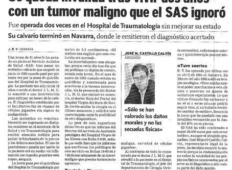 Se queda inválida tras vivir dos años con un tumor maligno que el SAS ignoró