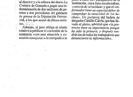 """Condenan al diario """"La Crónica"""" a indemnizar a dos periodistas"""