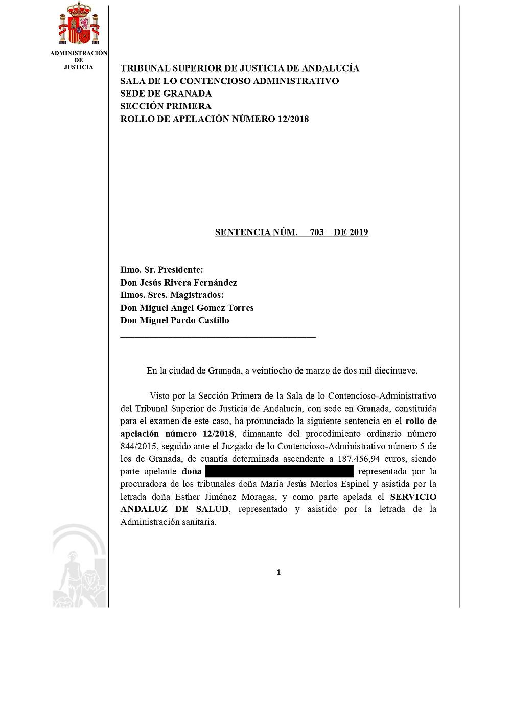 sentencia condena negligencia medica por error diagnostico