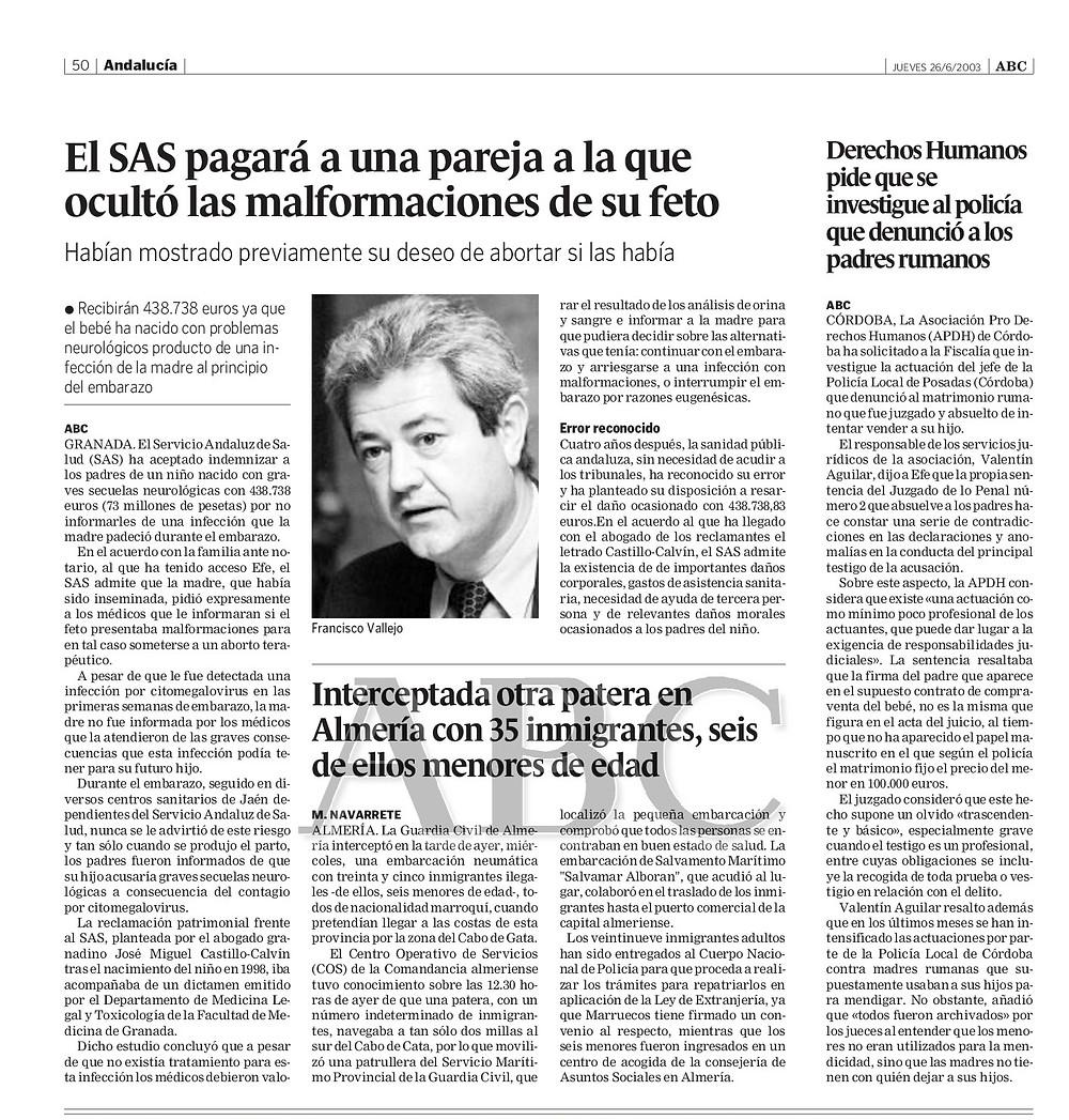 Castillo Calvin Abogados negligencias medicas Madrid Granada