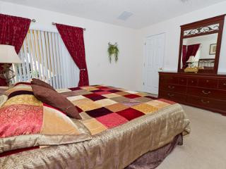 Master king bedroom with TV and DVD player