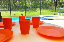 Cool drinks around the pool