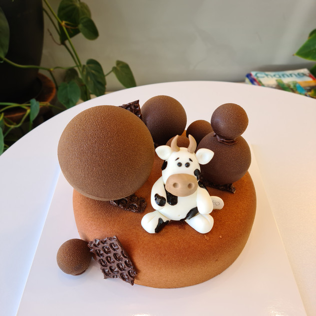 Dark Chocolate Mousse w_ Cow