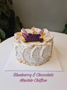Blueberry & Chocolate Marble Chiffon (+H