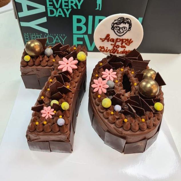 Black forest number cake
