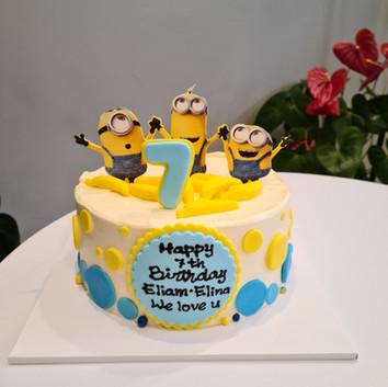 Minions theme cake ver.2