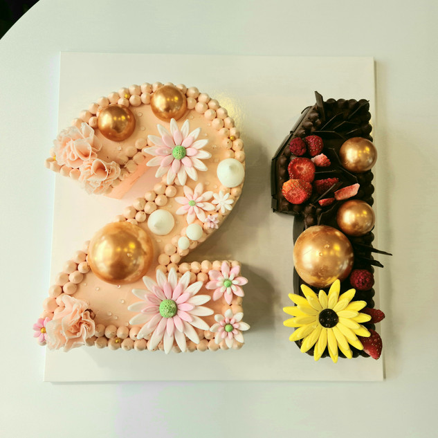 number cake for twin