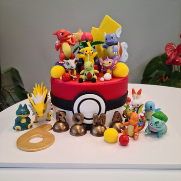 Pokemon theme cake ver.3