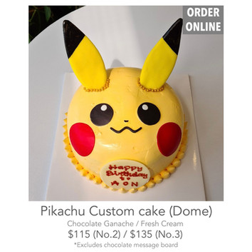 Pikachu Custom cake (Dome)