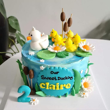 Duck character cake