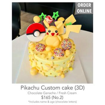 Pikachu Custom cake (3D)