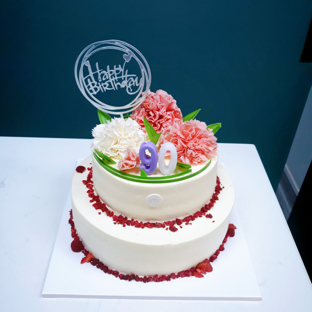 Two-layered Flower Cake