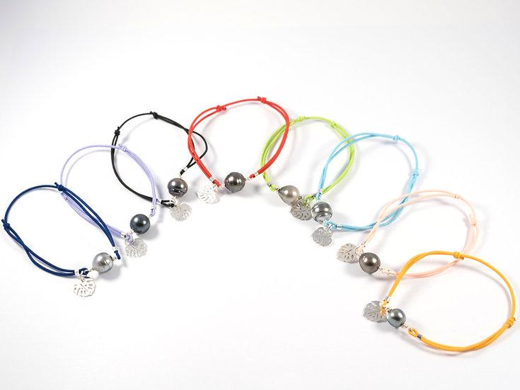 Bracelet perle de tahiti - Bracelet perle de culture - tahiana perle - Perle noire - bijoux perle de tahiti - argent 925