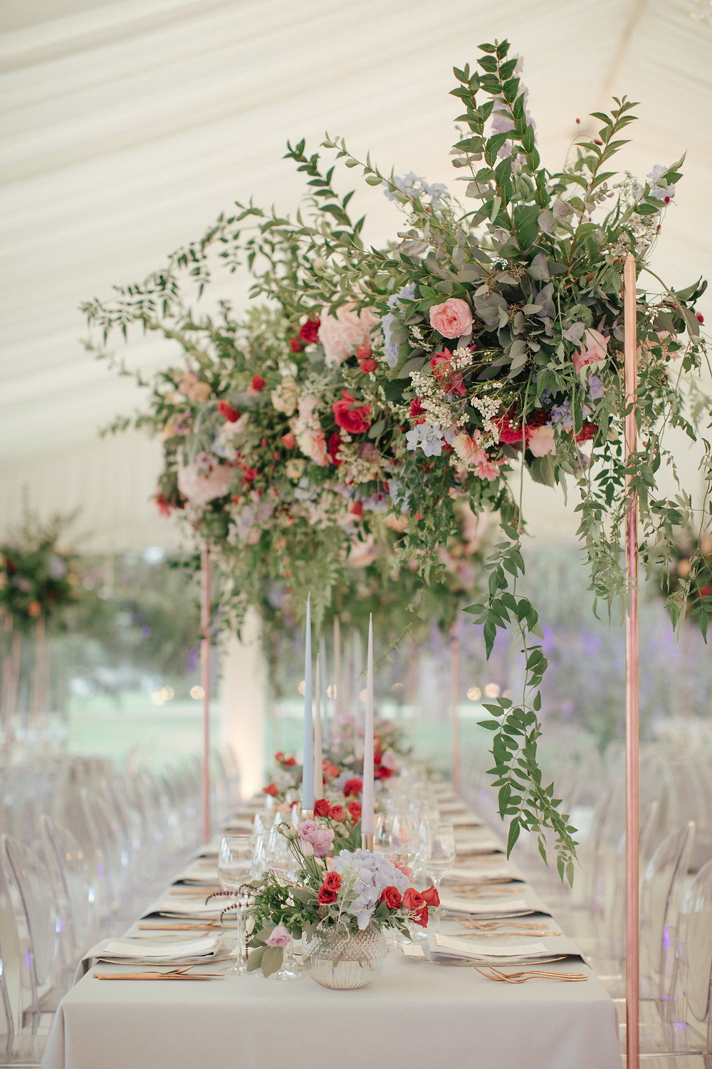 Marquee Wedding Flowers, Oxfordshire Wedding