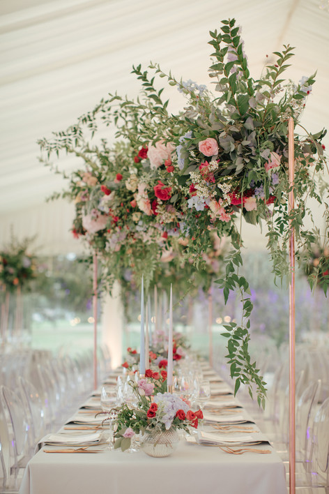 natural suspended florals