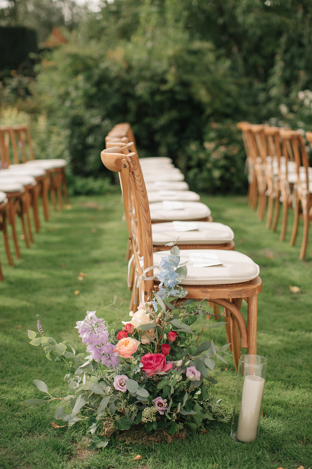 Outdoor Seating Cross Back Wedding Chairs