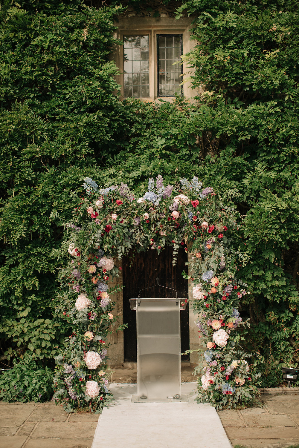 Wedding Floral Arch by Willowgold Flowers | Weddings by Jenna Hewitt